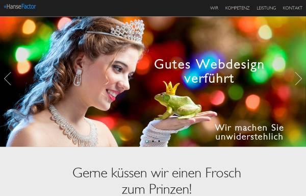 Vorschau von www.hansefactor.de, Hanse Factor