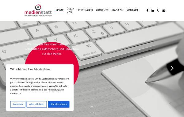 Vorschau von www.medienstatt.de, Medienstatt - Die Werkstatt für Kommunikation