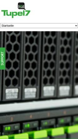 Vorschau der mobilen Webseite www.tupel7.de, Tipel7, Alexander Kasper