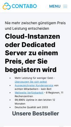 Vorschau der mobilen Webseite contabo.de, Contabo GmbH