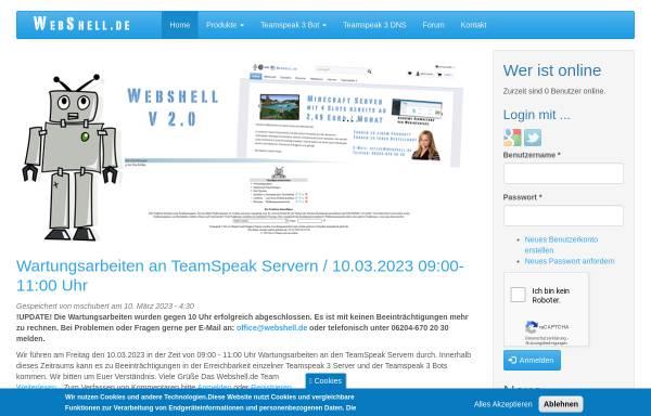 Vorschau von www.webshell.de, WebShell.de