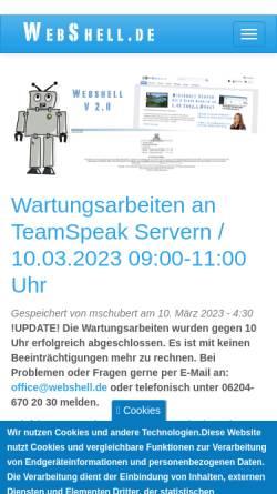 Vorschau der mobilen Webseite www.webshell.de, WebShell.de