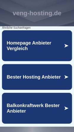 Vorschau der mobilen Webseite www.veng-hosting.de, VenG Hosting DE