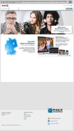Vorschau der mobilen Webseite www.magix-online.com, MAGIX Online Welt