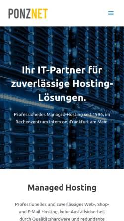 Vorschau der mobilen Webseite www.ponznet.de, PonzNet, Javier Ponz