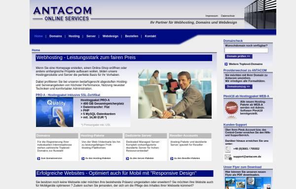 Vorschau von antacom.de, Antacom Online Services