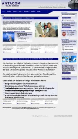 Vorschau der mobilen Webseite antacom.de, Antacom Online Services