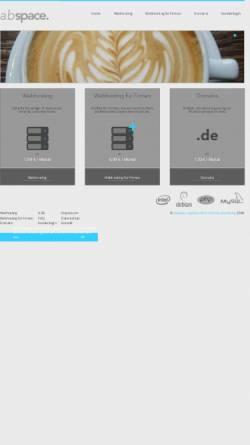 Vorschau der mobilen Webseite abspace.de, abspace