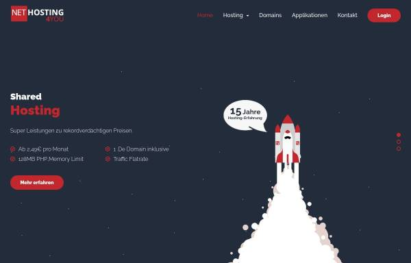 Vorschau von www.nethosting4you.de, Nethosting4You - Professional Hosting Solutions
