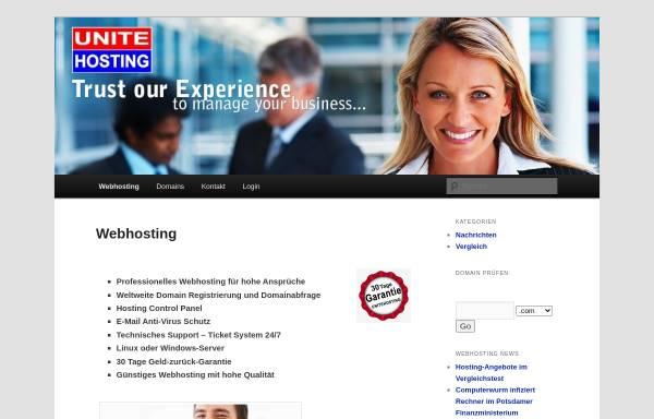Vorschau von unitehosting.de, UniteHosting