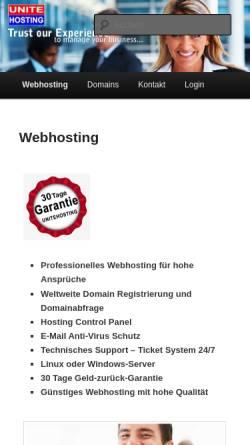 Vorschau der mobilen Webseite unitehosting.de, UniteHosting