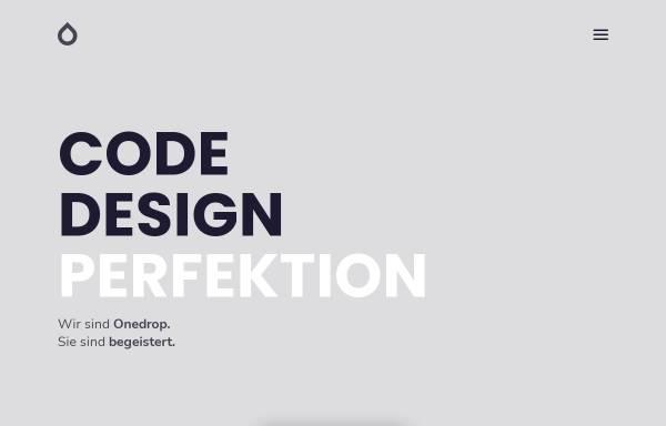 Vorschau von 1drop.de, Onedrop Solutions GmbH