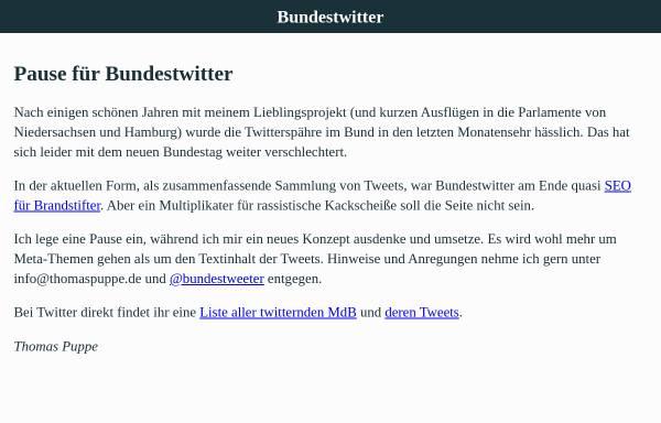Vorschau von www.bundestwitter.de, Bundestwitter.de
