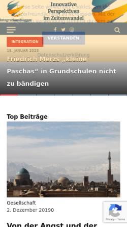 Vorschau der mobilen Webseite i-blogger.de, Die Integrationsblogger