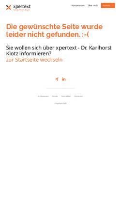 Vorschau der mobilen Webseite www.kklotz.de, Dr. Klotz' Computerschutz