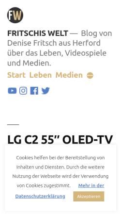 Vorschau der mobilen Webseite www.fritschis-welt.de, Fritschis Welt