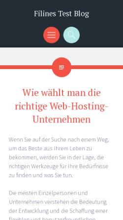 Vorschau der mobilen Webseite www.filines-testblog.com, Filines Testblog