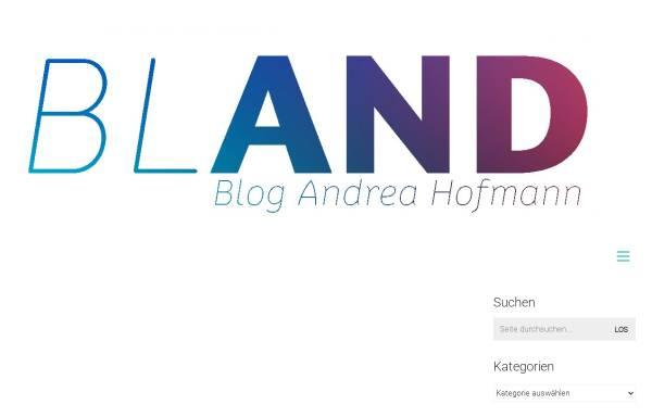 Vorschau von www.blog.andrea-hofmann.de, Hofmann, Andrea