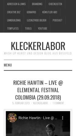 Vorschau der mobilen Webseite kleckerlabor.de, Kleckerlabor