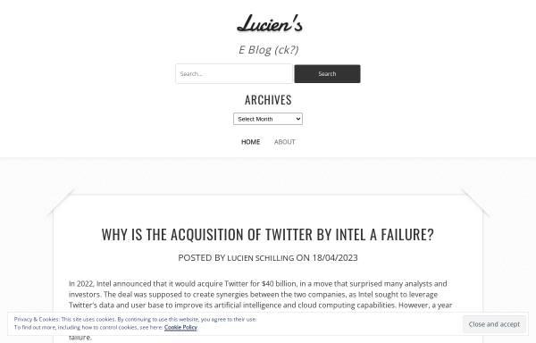 Vorschau von spaweck.com, Lucien's Blog