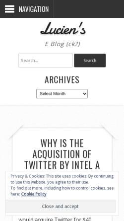 Vorschau der mobilen Webseite spaweck.com, Lucien's Blog