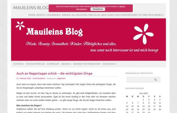 Vorschau von www.mauilein.de, Mauileins Blog