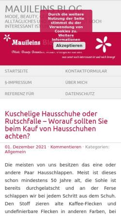 Vorschau der mobilen Webseite www.mauilein.de, Mauileins Blog