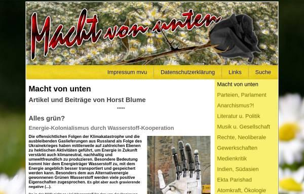 Vorschau von www.machtvonunten.de, Macht von unten