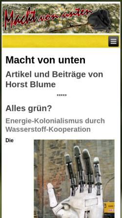 Vorschau der mobilen Webseite www.machtvonunten.de, Macht von unten