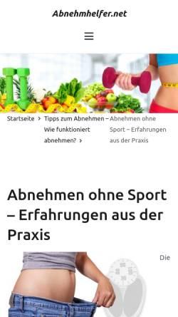 Vorschau der mobilen Webseite meine-traumfigur.eu, Mein Weg zur Traumfigur - Santanas Blog