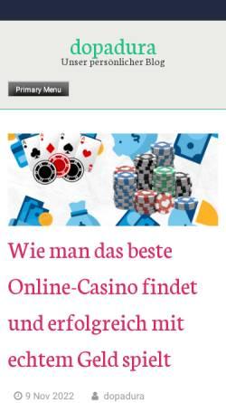 Vorschau der mobilen Webseite dopadura.de, Mischbluts Oase