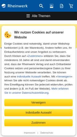Vorschau der mobilen Webseite www.rheinwerk-verlag.de, Rheinwerk Verlag GmbH