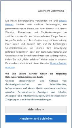 Vorschau der mobilen Webseite www.cnet.de, Cnet.de