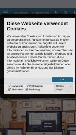 Vorschau der mobilen Webseite recording.de, Recording.de