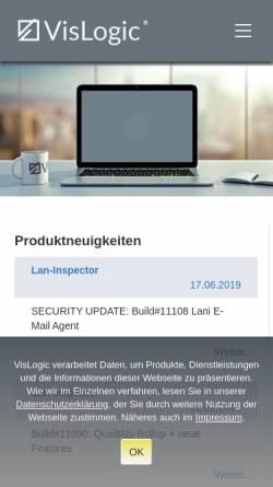 Vorschau der mobilen Webseite www.vislogic.de, VisLogic GmbH