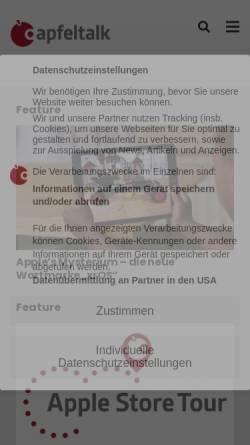 Vorschau der mobilen Webseite www.apfeltalk.de, Apfeltalk
