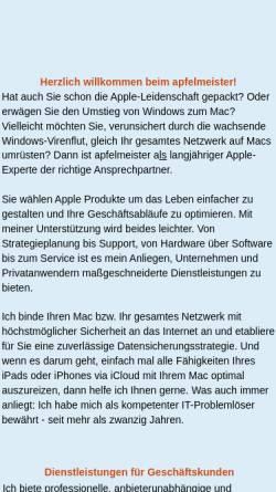 Vorschau der mobilen Webseite www.apfelmeister.de, Apfelmeister, Christian Leue