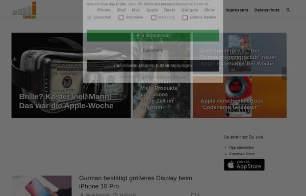 Vorschau von itopnews.de, Online Portal für Apple Produkte