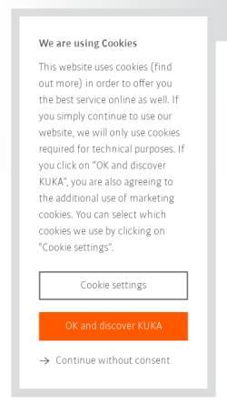 Vorschau der mobilen Webseite www.kuka-labs.com, KUKA Laboratories GmbH