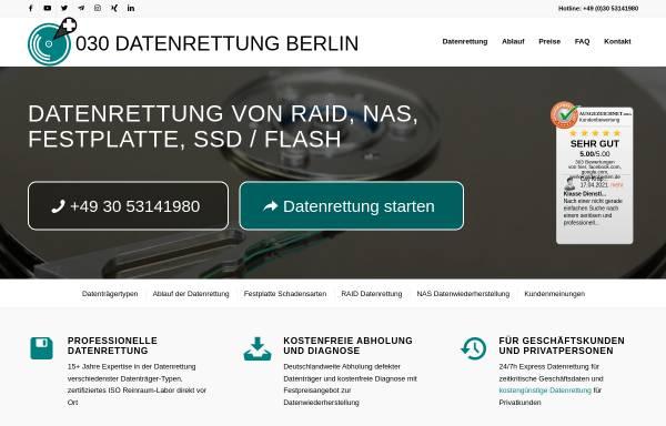 Vorschau von www.030-datenrettung.de, Schauerhammer IT Cons.