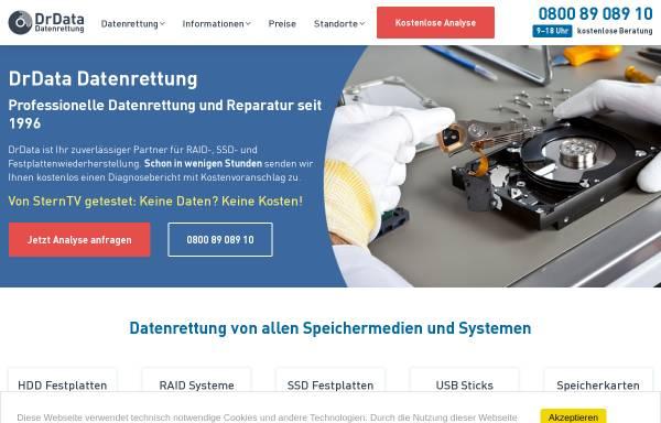 Vorschau von www.drdata.de, DrData Datenrettung OHG