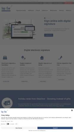 Vorschau der mobilen Webseite www.stepover.com, StepOver International GmbH