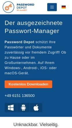 Vorschau der mobilen Webseite www.password-depot.de, Password Depot