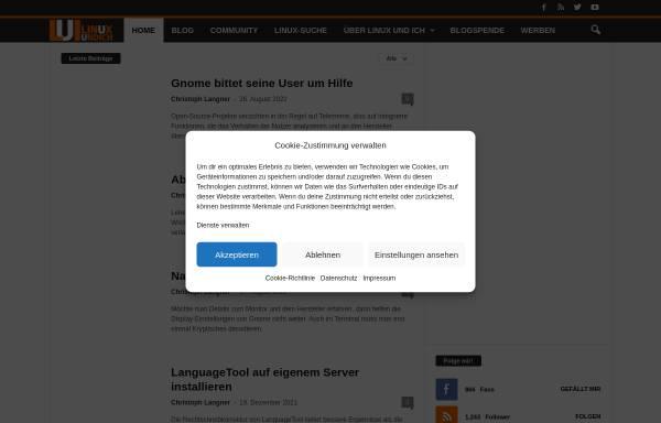 Vorschau von linuxundich.de, Linux Und Ich
