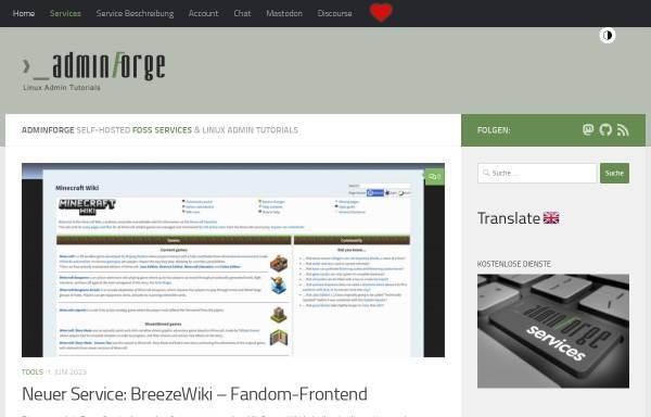 Vorschau von adminforge.de, AdminForge
