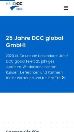 Vorschau der mobilen Webseite www.dcc-global.com, Dcc global GmbH
