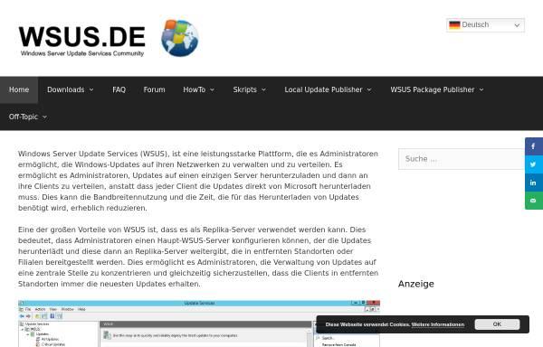 Vorschau von www.wsus.de, WSUS.DE