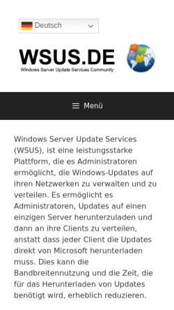 Vorschau der mobilen Webseite www.wsus.de, WSUS.DE