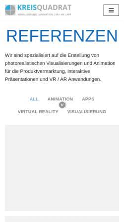 Vorschau der mobilen Webseite kreisquadrat.de, Kreisquadrat, Dipl.-Ing. Oliver Wöhr