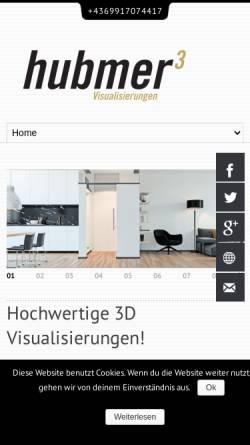 Vorschau der mobilen Webseite www.hubmer3.com, Hubmer³ - Visualisierungen